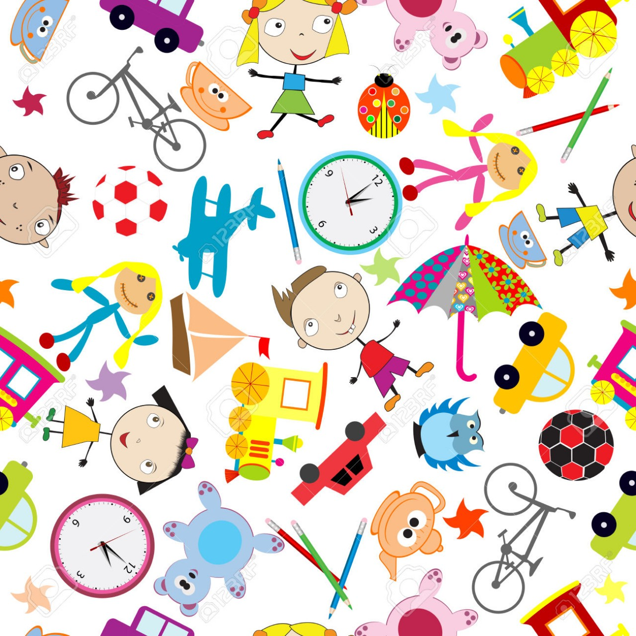 26788153-Seamless-pattern-with-toys-background-for-kids-Stock-Photo
