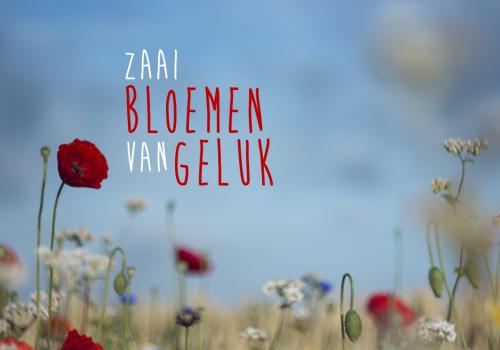 Zaai bloemen van geluk…
